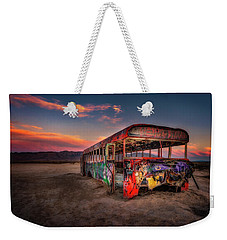 Sunset Bus Tour Weekender Tote Bag