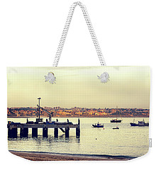 Weekender Tote Bag featuring the photograph Sunset By The Sea by Marion McCristall