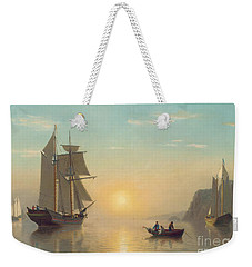 Sunset Calm In The Bay Of Fundy Weekender Tote Bag by William Bradford