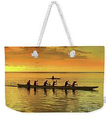 Sunset Canoeists Weekender Tote Bag by Scott Cameron