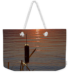 Sunset Cattail Weekender Tote Bag