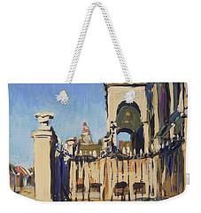 Sunset Cityhall Maastricht Entrance Weekender Tote Bag by Nop Briex