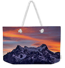 Sunset Clouds At Cerro Paine Grande #3 - Chile Weekender Tote Bag by Stuart Litoff