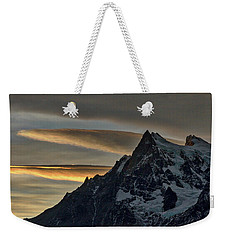 Sunset Clouds At Cerro Paine Grande - Chile Weekender Tote Bag by Stuart Litoff