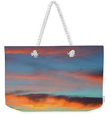 Sunset Clouds In Blue Sky  Weekender Tote Bag by Lyle Crump