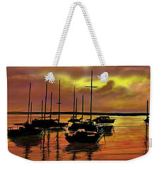 Weekender Tote Bag featuring the digital art Sunset by Darren Cannell
