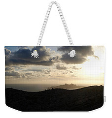 Sunset Dragon Island Weekender Tote Bag