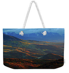 Sunset During Autumn Below The San Juan Mountains In Colorado Weekender Tote Bag