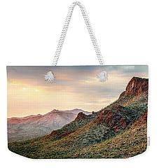 Weekender Tote Bag featuring the photograph Sunset by Elaine Malott