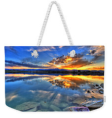 Sunset Explosion Weekender Tote Bag by Scott Mahon