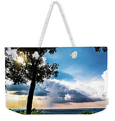 Weekender Tote Bag featuring the photograph Sunset Explosion by Shelby Young