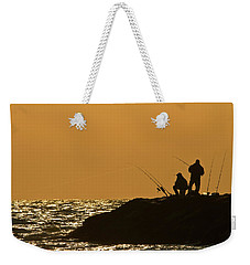 Sunset Fishermen Weekender Tote Bag