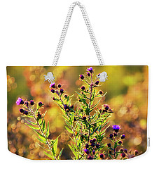 Weekender Tote Bag featuring the photograph Sunset Flowers by Christina Rollo