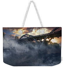 Sunset Fog At Caveman Bridge Weekender Tote Bag