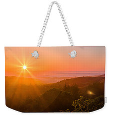 Sunset Fog Over The Pacific #1 Weekender Tote Bag