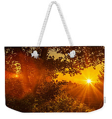 Sunset Fog Over The Pacific #3 Weekender Tote Bag