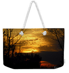 Sunset From Farm Weekender Tote Bag
