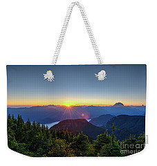 Sunset From Mt St Benedict Weekender Tote Bag