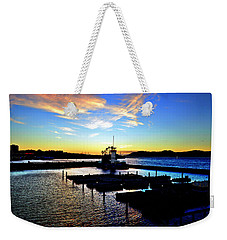 Weekender Tote Bag featuring the photograph Sunset From Pier 39 - San Fransisco by Glenn McCarthy Art and Photography