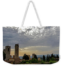 Sunset From San Gimignano Weekender Tote Bag by Jean Haynes