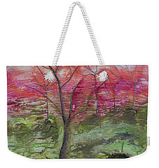 Weekender Tote Bag featuring the painting Sunset From The Mountain Top by John Stuart Webbstock