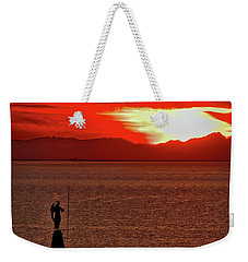 Weekender Tote Bag featuring the photograph Sunset From The Walls #4 - Piran Slovenia by Stuart Litoff