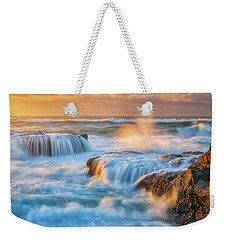 Weekender Tote Bag featuring the photograph Sunset Fury by Darren White