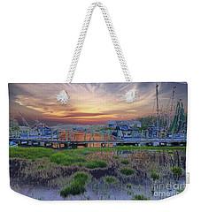 Sunset Harbor Dream Weekender Tote Bag