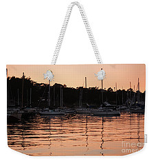 Weekender Tote Bag featuring the photograph Sunset Harbor by Suzanne Luft