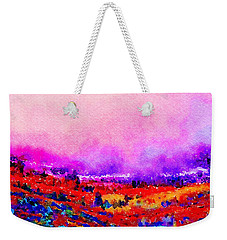 Weekender Tote Bag featuring the painting Sunset Hills by Angela Treat Lyon