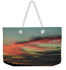 Weekender Tote Bag featuring the photograph Sunset Home 2 by Ronda Broatch