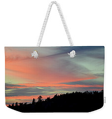 Weekender Tote Bag featuring the photograph Sunset Home 3 by Ronda Broatch