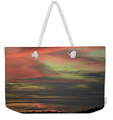 Weekender Tote Bag featuring the photograph Sunset Home by Ronda Broatch