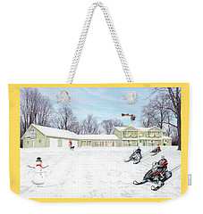 Sunset House At Christmas Weekender Tote Bag