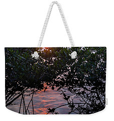 Weekender Tote Bag featuring the photograph Sunset, Hutchinson Island, Florida  -29188-29191 by John Bald