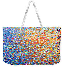 Weekender Tote Bag featuring the painting Sunset - Impressionist Painting by Cristina Stefan