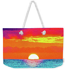 Weekender Tote Bag featuring the photograph Sunset In Abstract 500 by D Davila