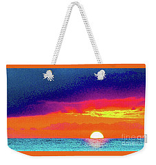 Weekender Tote Bag featuring the photograph Sunset In Abstract  by D Davila