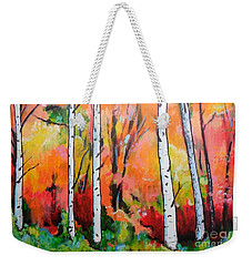 Sunset In An Aspen Grove Weekender Tote Bag