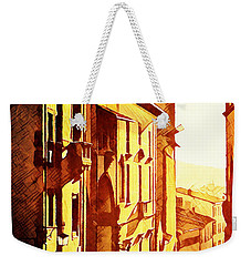Sunset In Arezzo Weekender Tote Bag