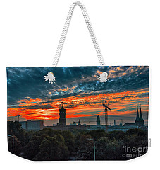 Weekender Tote Bag featuring the photograph Sunset In Berlin by Pravine Chester