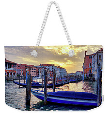 Weekender Tote Bag featuring the photograph Sunset In Canal Grande by Fabrizio Troiani
