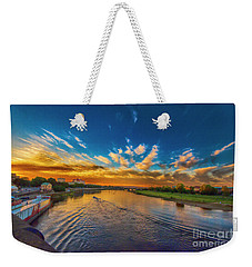 Sunset In Dresden Weekender Tote Bag by Pravine Chester