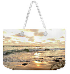 Sunset In Golden Tones Torrey Pines Natural Preserves #2 Weekender Tote Bag by Heather Kirk
