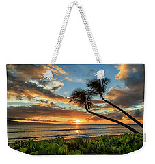 Weekender Tote Bag featuring the photograph Sunset In Kaanapali by James Eddy