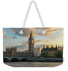 Sunset In London Westminster Weekender Tote Bag by James Udall