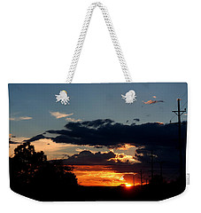 Weekender Tote Bag featuring the photograph Sunset In Oil Santa Fe New Mexico by Diana Mary Sharpton