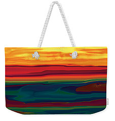 Weekender Tote Bag featuring the digital art Sunset In Ottawa Valley by Rabi Khan