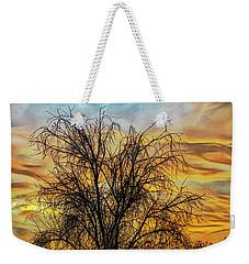 Weekender Tote Bag featuring the digital art Sunset In Perris by Rhonda Strickland