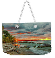 Sunset In Rocky River, Ohio Weekender Tote Bag